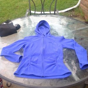 The North face electric blue  zip front hoodie